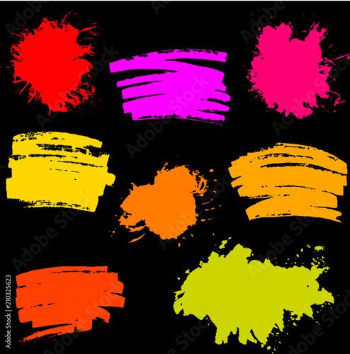 Paint Splash  Vector set of Brush Strokes