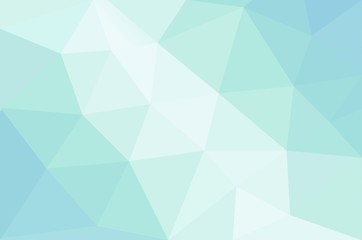 Abstract calming pastel colored background with connected polygonal shapes - triangles
