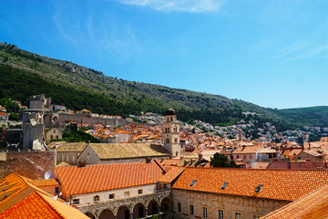 Dubrovnik old city view in Croatia in a sunny summer day