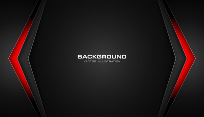Abstract color gradient contrast tech arrows background. Vector illustration corporate design Fototapete