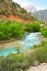 Dolina rzeczne  Tadżykistanie