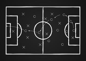 Soccer tactic. Football