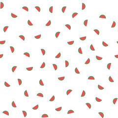 Watermelon pattern seamless background
