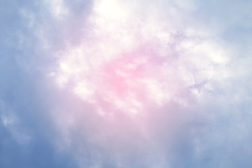 sky fluffy pink blue soft purple multicolored background beautiful sky with pink clouds, two tone sky background colorful