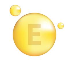 Vitamin E gold icon