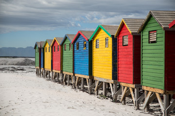 Colored Huts in Muizenberg Cape Town