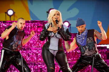 Singer Bebe Rexha performs on ABC's 'Good Morning America' show in New York