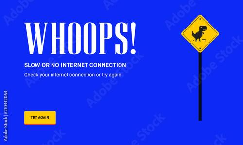 No Internet Webpage design concept  Vector illustration