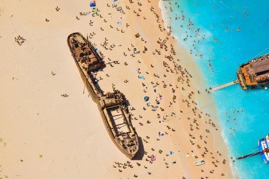 Shipwreck Bay, Zakynthos Island, Greece.