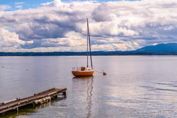 Chiemsee Boot Wolken