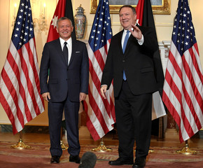 Secretary of State Pompeo welcomes Jordan's King Abdullah in Washington