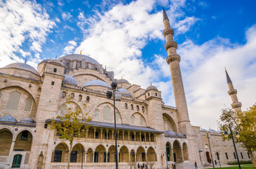 Suleymaniye mosque in Istanbul, Turkey
