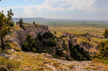 Scenic View from Trail at Scotts Bluff National Monument, Nebraska, USA