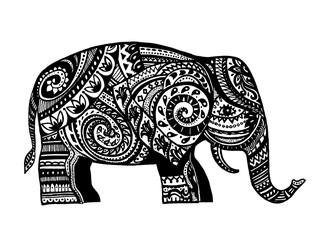 Ethnic ornamented elephant