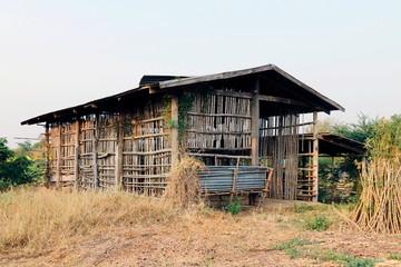 cottage, hut old, old cottage