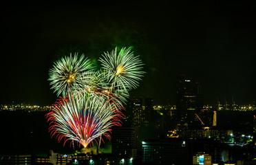 International Fireworks Festival 2018 at Pattaya, Thailand