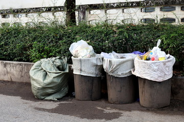 Old Bin trash at rustic countryside wayside, Garbage, Bin, Trash, Dirty, Waste, Pollution garbage, Bin waste