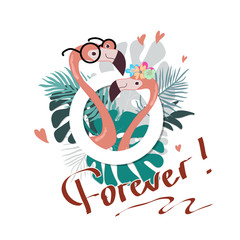 Summer slogan vector print with flamingo illustration. For t-shirt or other uses,T-shirt graphics / textile graphic