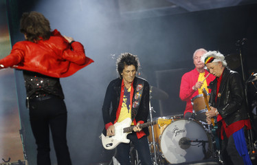 The Rolling Stones perform during their 'Stones - No Filter' tour at Olympic Stadium in Berlin