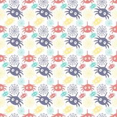 helloween spider icon seamless pattern