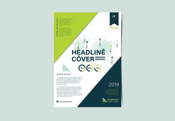 Flyer Layout with Diagonal Elements