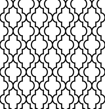 CLASSIC ARABESQUE SEAMLESS VECTOR PATTERN. ELEGANT DECORATIVE TEXTURE.