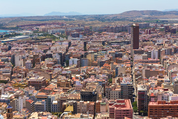 alicante city spain in the summer from above