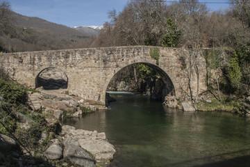 Roman bridge in the Comarca de la Vera, Caceres, Extremadura