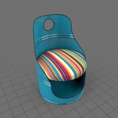 Oil barrel chair