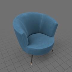 Retro bucket chair