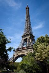Beautiful Eiffel tower in Paris, France