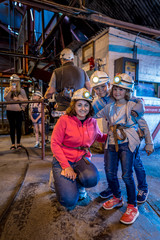 Foto op Aluminium Imagination Family visit to abandoned coal mine in Wales