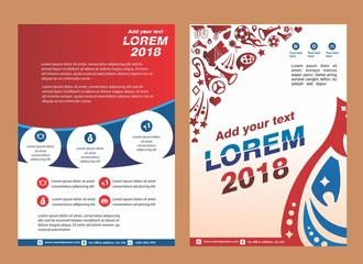 cover, layout, brochure, poster for sport event