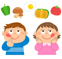 野菜 食育 女の子 男の子