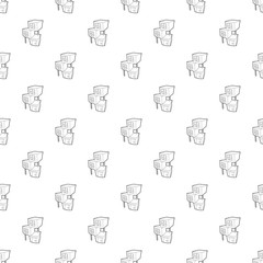 City building pattern vector seamless repeating for any web design