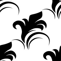 seamless abstract pattern with swirl