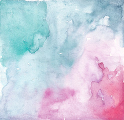 watercolor pink turquoise background, drop background, watercolor design