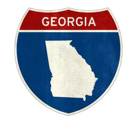 Georgia State Interstate road sign