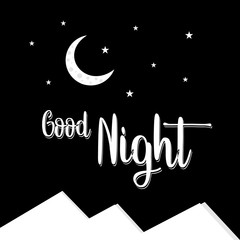 Good Night Vector Design