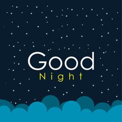 Good Night Vector Design