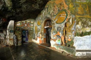 Der Diva Guhawa Höhlen-Tempel bei Ratnapura in Sri Lanka