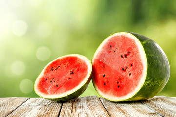 fresh watermelon and free space for your decoration.