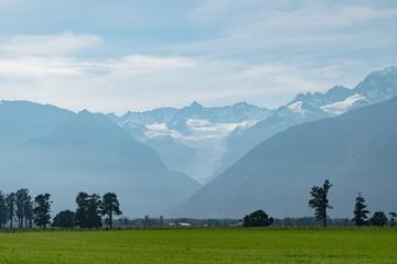 Fox Glacier South Island, New Zealand natural landscape background