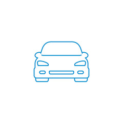 Car line icon for web, mobile and infographics. Vector icon isolated on white background