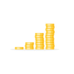 Coins stack vector illustration, coins icon flat modern design isolated on white background