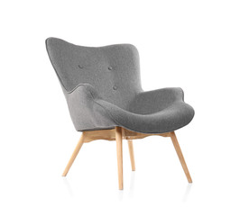 Fototapeta Comfortable armchair on white background. Interior element obraz