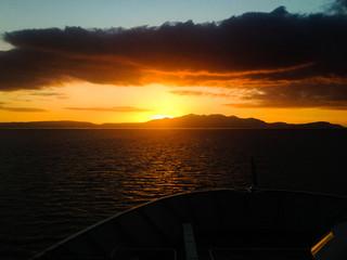 Arran Ferry Sunset