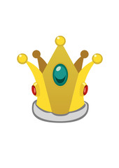 A isolated cartoon golden crown. Vector illustration