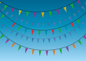 A group of party miniflags garlands. Vector illustration