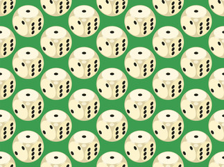 Seamless pattern with rounded assets. Vector illustration